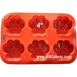 6 paws silicone cake pan