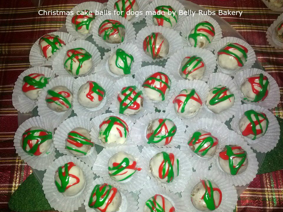 Christmas Cake Balls For Dogs