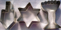 Hanukkah cookie cuters