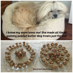 Peanut butter icing for dogs
