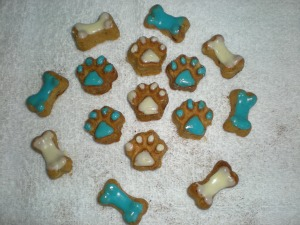 Chanukah dog treats