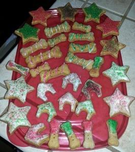 Christmas dog treats