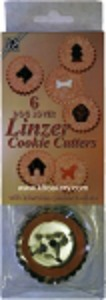 Linzer dog cookie cutters