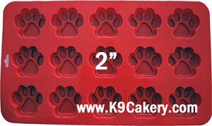 Paw print cake pan for dog treats