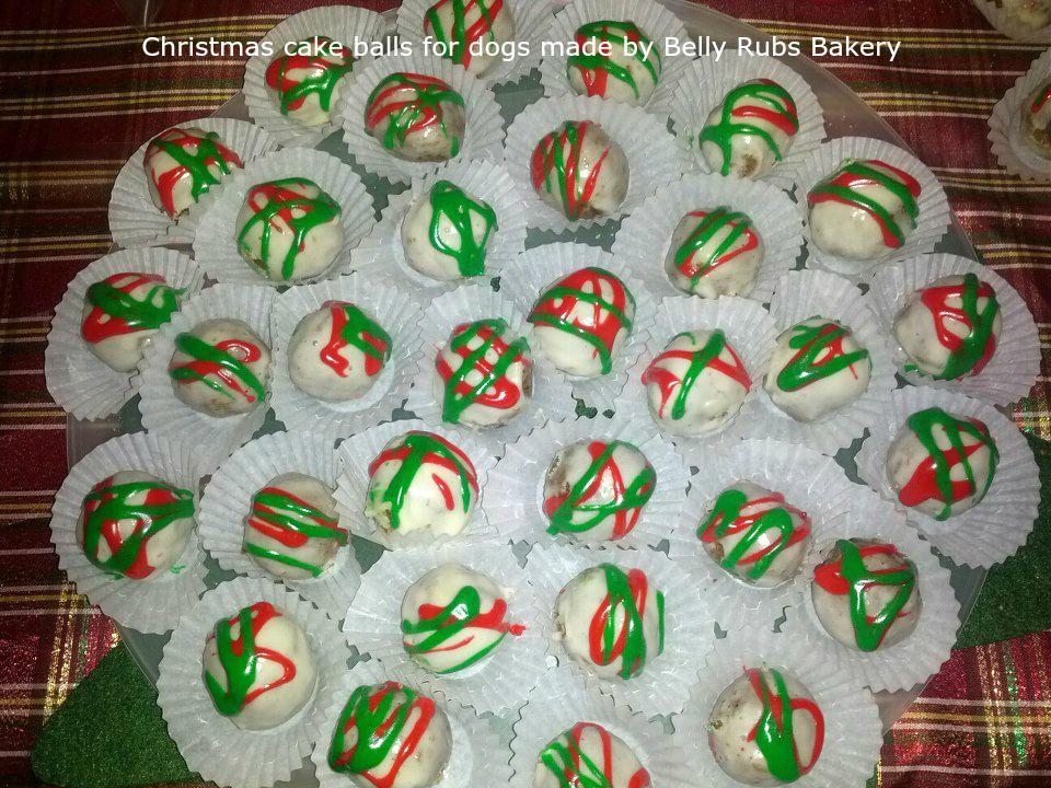 Christmas cake balls for dogs
