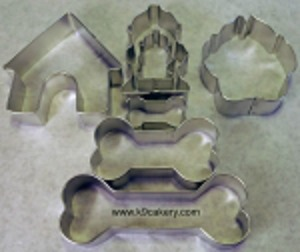 7 dog themed cookie cutters