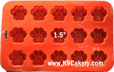 mini paw print cake pan